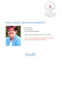 Profil Petra Hänsel Seniorenassistenz Rosbach Wetterau